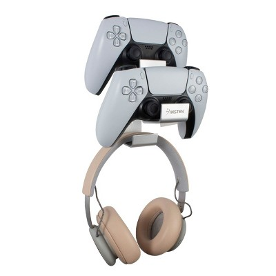 Insten Aluminum Headphone Stand & Gaming Controller Wall Mount Holder for Xbox One, PS4, PS5 Controllers & Gamer Headset
