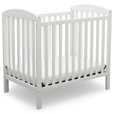 Delta Children Emery Mini Convertible Baby Crib with Mattress