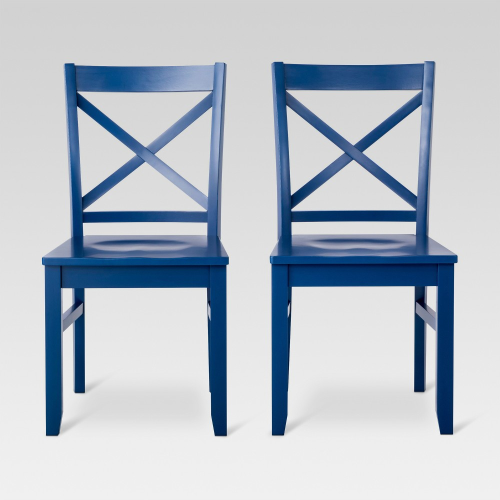 Carey Dining Chair - Navy (Blue) (Set of 2) - Threshold