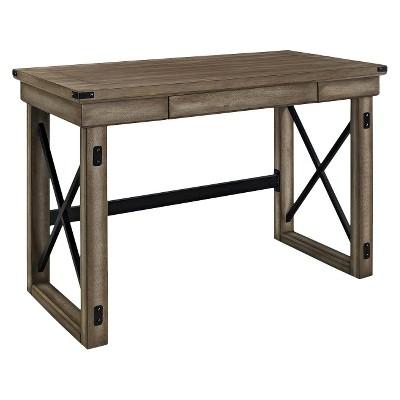 Hathaway Wood Veneer Desk - Rustic Gray - Room & Joy