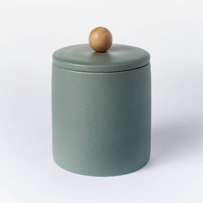 Lidded Stoneware Container Set with Faux Clay Finish - Threshold™ designed with Studio McGee
