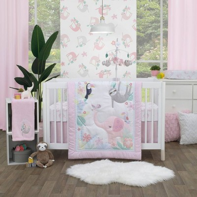 Little Love by NoJo Tropical Garden Crib Set - 3pc