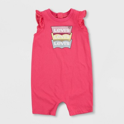 Levi's® Baby Girls' Ruffle Sleeve Romper - Pink