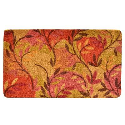 HomeTrax Coir Mat Doormat - Multi Leaf (18  x 30 )