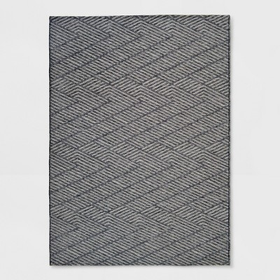 Seagull Stripe Outdoor Rug Gray - Project 62™