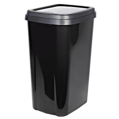 Hefty 13gal Odor Block Lid Wastebasket Graphite
