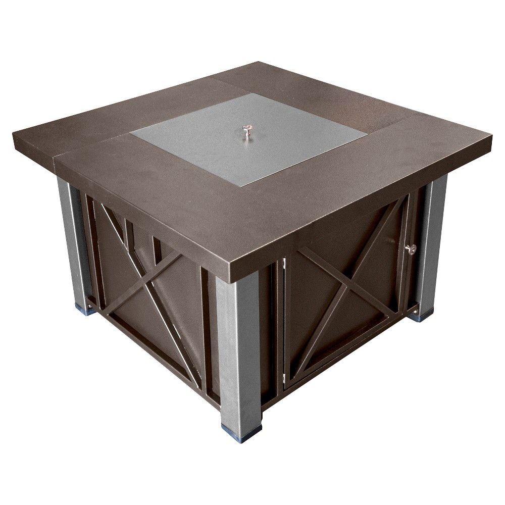 Image of AZ Patio Heaters Propane Fire Pit - Espresso Brown