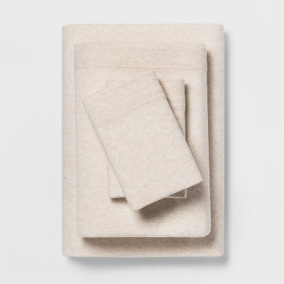King Jersey Sheet Set Heather Tan - Room Essentials™