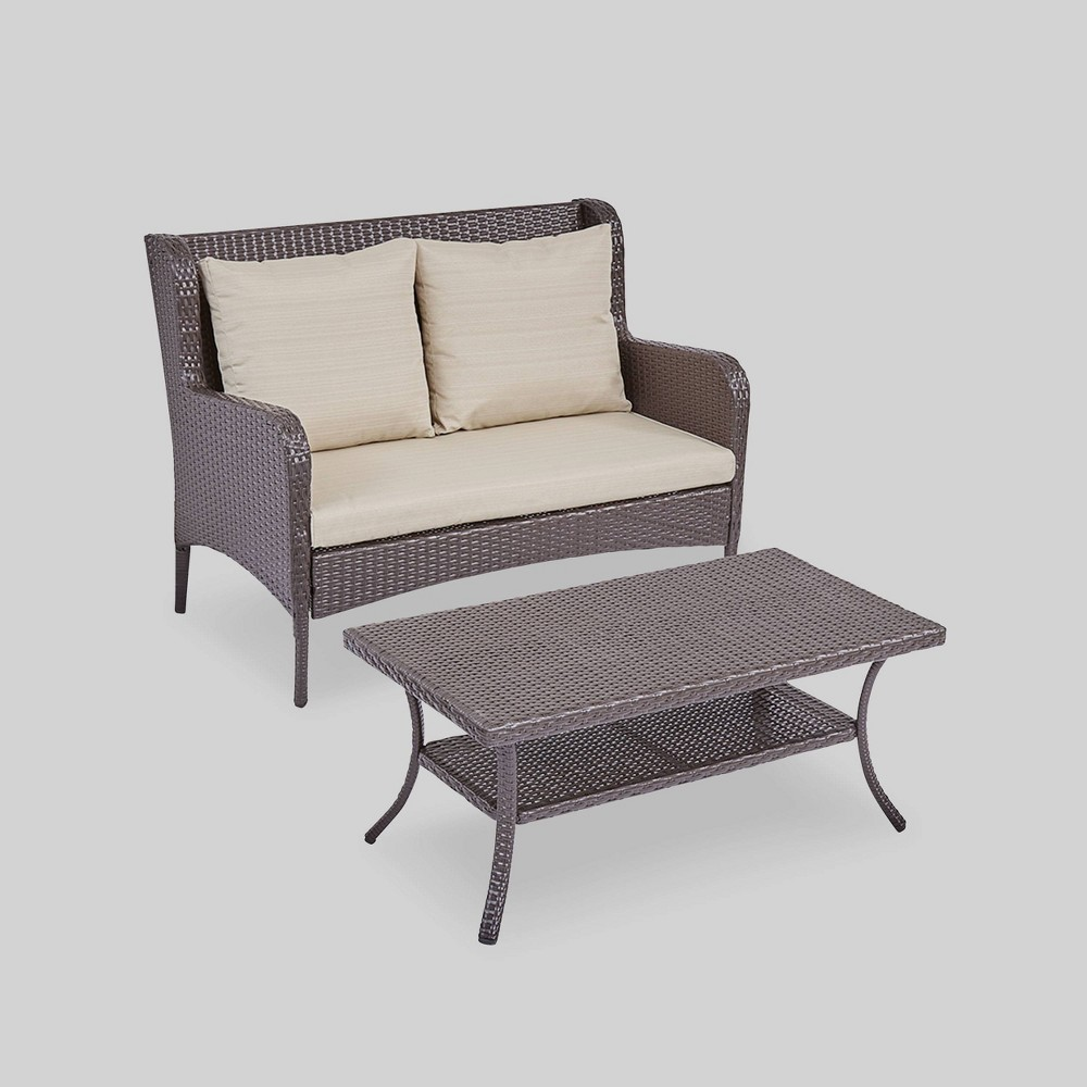 Ideas About Grey Outdoor Resin Wicker Loveseat
