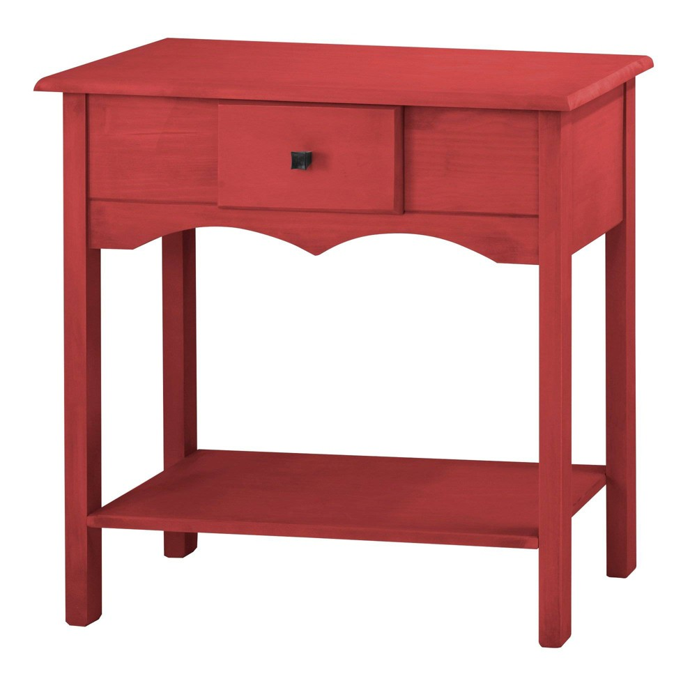 31.49 Jay Tall Sideboard with 1 Full Extension Drawer Wash Red - Manhattan Comfort