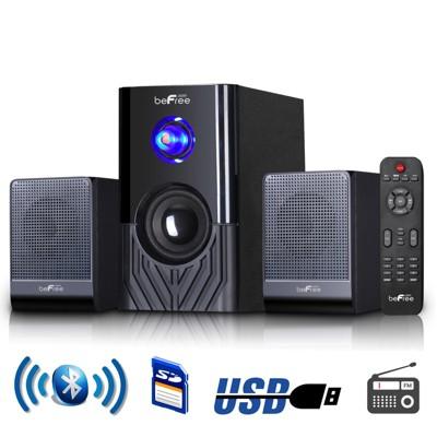 beFree Sound 2.1 Channel Surround Sound Bluetooth Speaker System -Black