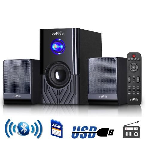 beFree Sound 2.1 Channel Surround Sound Bluetooth Speaker System -Black - image 1 of 4