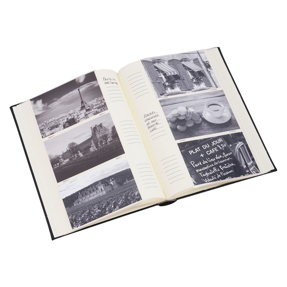 "Image of ""4""""x6"""" Classic Photo Album Black, Brown"""
