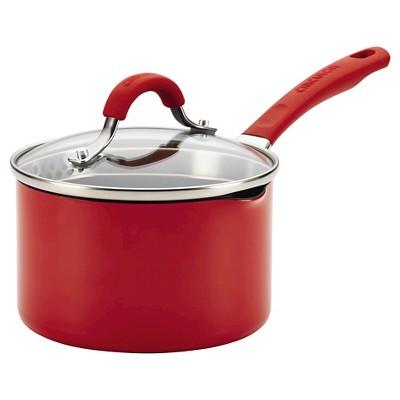 Circulon Innovatum Aluminum Nonstick 2 Quart Covered Sauce Pan - Red