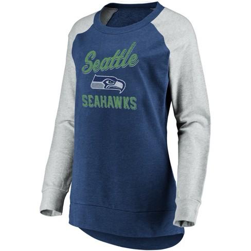 reputable site ff9b3 aeb1c Seattle Seahawks Women's Brushed Tunic/ Gray Crew Neck Fleece Sweatshirt S