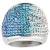 ELYA Stainless Steel Colored Crystal Cocktail Ring - image 2 of 2