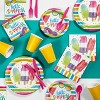 24ct Hello Summer Paper Plates Red - image 2 of 2
