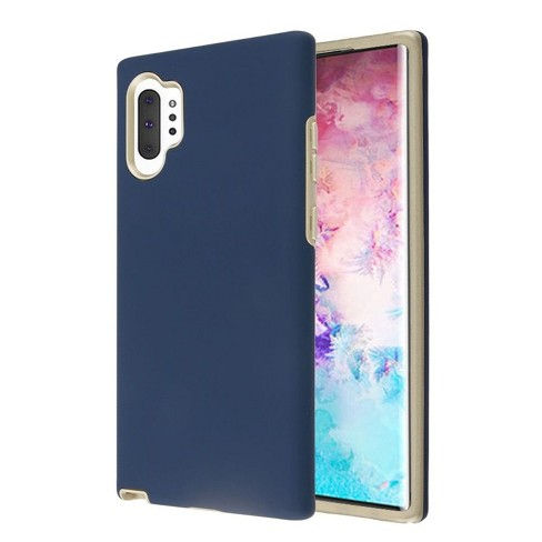 For Samsung Galaxy Note 10 Plus Blue Gold Fuse Hard TPU Hybrid Case Cover - image 1 of 2