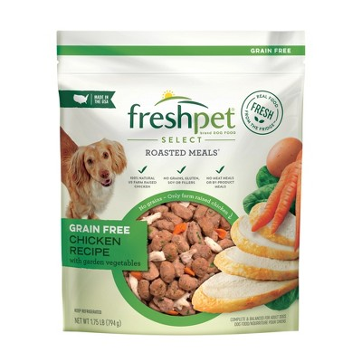 Freshpet Select Roasted Meals Grain Free Chicken Recipe Refrigerated Wet Dog Food - 1.75lbs