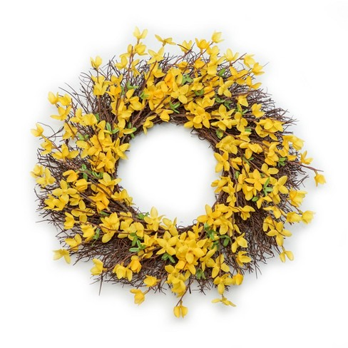 "Artificial Floral Wreath Yellow 19""x19"" - Lloyd & Hannah - image 1 of 1"