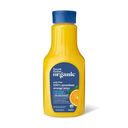 Organic 100% Orange Juice Not From Concentrate w/ Calcium & Vitamin D - 52 fl oz - Good & Gather™ - image 1 of 2