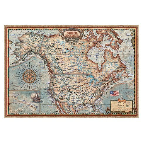 North America Map Puzzle 1000pc - image 1 of 1