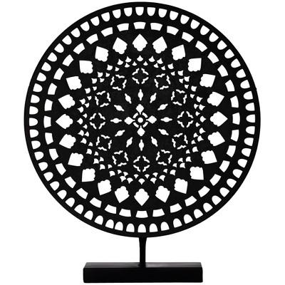 Decorative Medallion Figurine Metal - Black