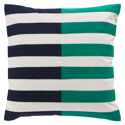 Color Block Striped Throw Pillow - Surya® - image 1 of 1