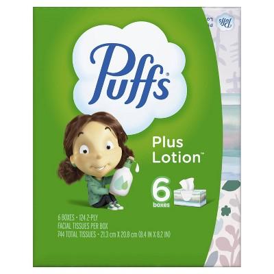 Puffs Plus Lotion Facial Tissue - 6pk