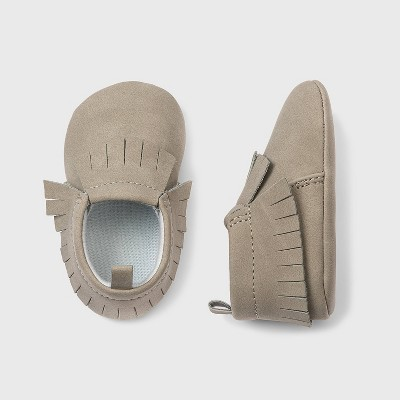 Baby Girls' Moccasin Crib Shoes - Cat & Jack™