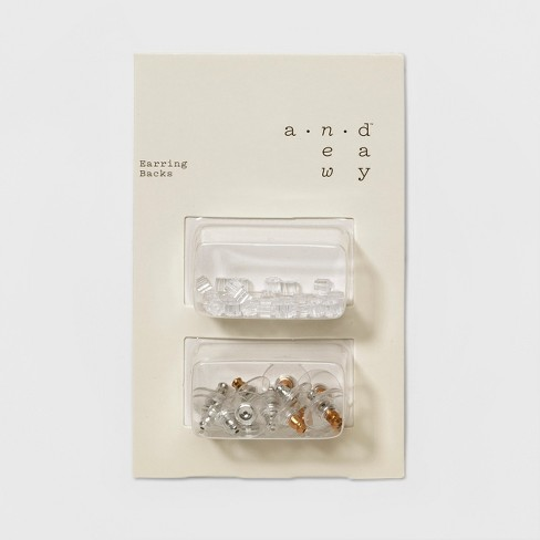 Multi Parts Rubber Disc Earring Back - A New Day™ Clear - image 1 of 2