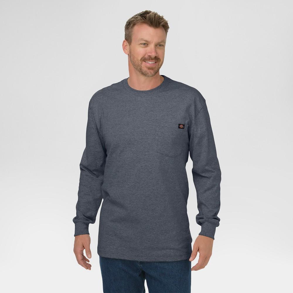 Dickies Men's Cotton Heavyweight Long Sleeve Pocket T-Shirt, Size: Large, Grey