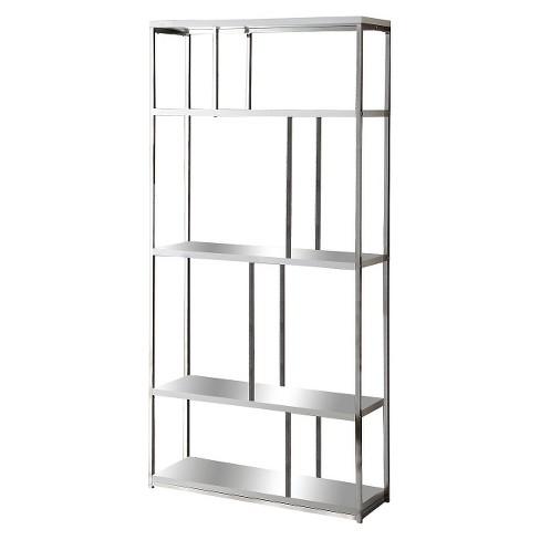 72 Chrome Bookcase Everyroom