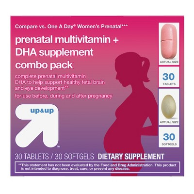 Women's Daily Prenatal Combo Pack Dietary Supplement Tablets & Softgels - 60ct - Up&Up™ (Compare to One A Day Women's Prenatal)