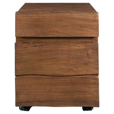 2 Drawer Theo Rolling File Cabinet Walnut   Treasure Trove