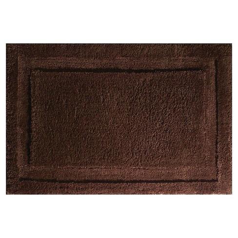Microfiber Bathroom Shower Accent Rug - iDESIGN - image 1 of 4