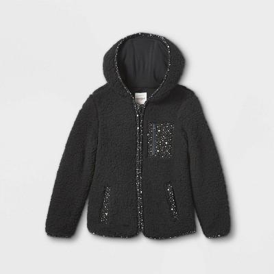 Girls' Sherpa Hooded Zip-Up Jacket - Cat & Jack™