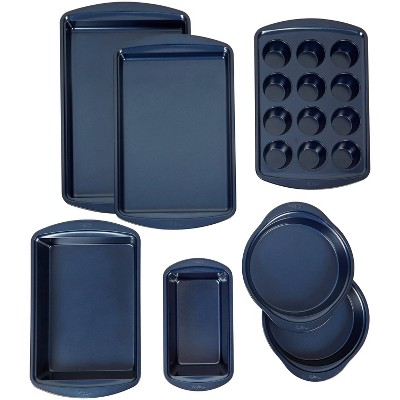 Wilton 7pc Diamond-Infused Non-Stick Baking Set Navy/Blue