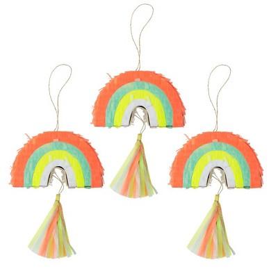 Meri Meri - Rainbow Party Favor Pinatas - Party Favors - 3ct
