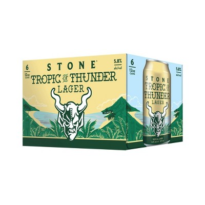 Stone Tropic of Thunder Lager Beer - 6pk/12 fl oz Cans