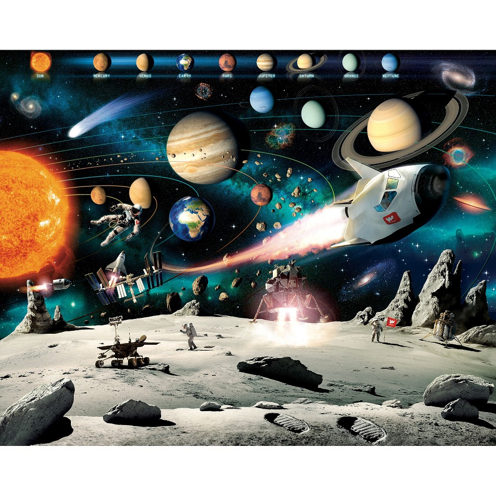 Image of Walltastic Space Adventure Mural, Multi-Colored