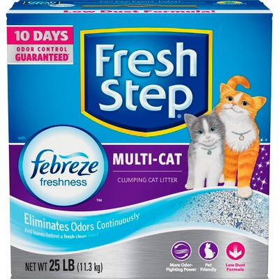 Fresh Step Multi-Cat with Febreze Freshness Scented Clumping Cat Litter - 25lb