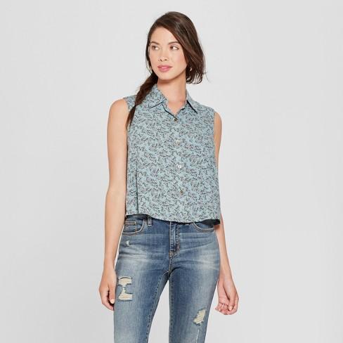 71c4a61153c0 Women's Sleeveless Button-Up Shirt - Xhilaration™ : Target