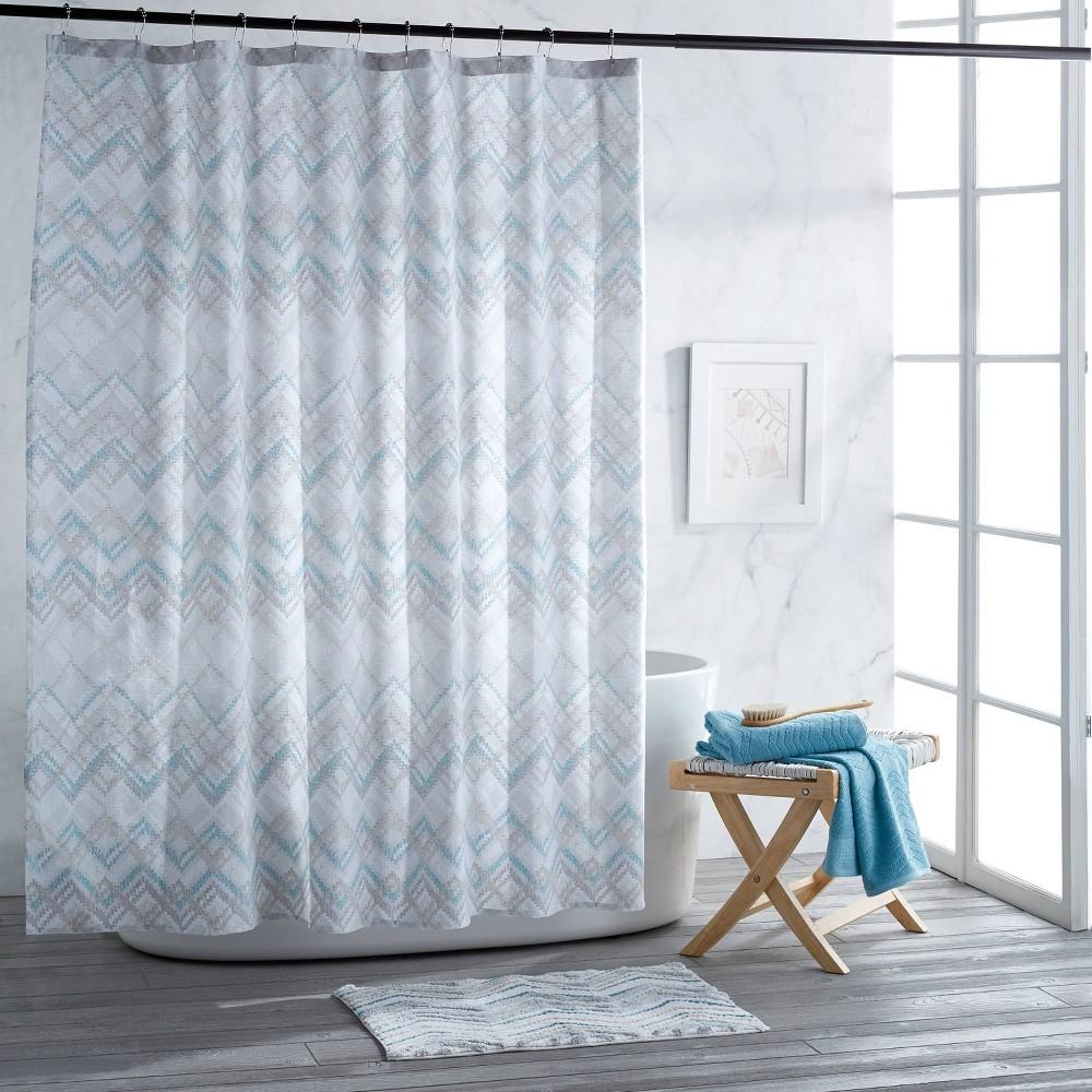Image of Mesa Chevron Shower Curtain Aqua - Destinations