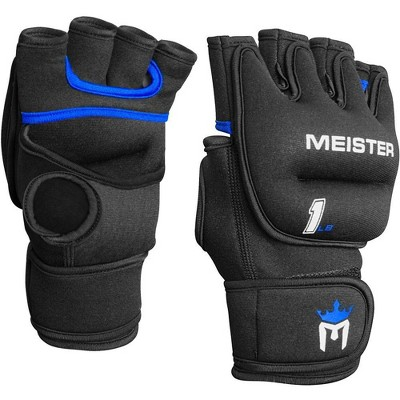 Meister Neoprene Weighted Gloves Pair - 1lbs Black/Blue