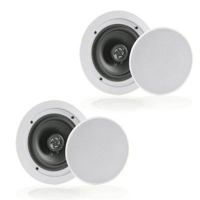 "Pyle Audio 6.5"" 2 Way 200W Bluetooth Ceiling Wall Speakers, Pair | PDICBT652RD"