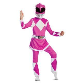 Kids' Deluxe Power Rangers Pink Ranger Halloween Costume Jumpsuit S (4-6x)