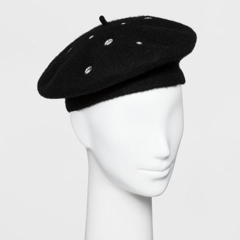 Women s Beret Hat - Wild Fable™ Black   Target 88e756c8055