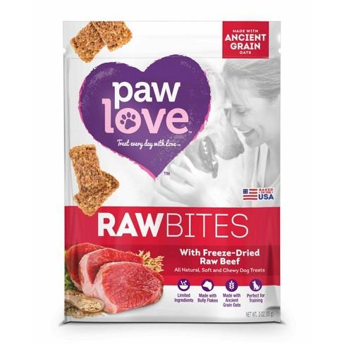 Paw Love Raw Bites Freeze-Dried Beef - 3oz - image 1 of 1