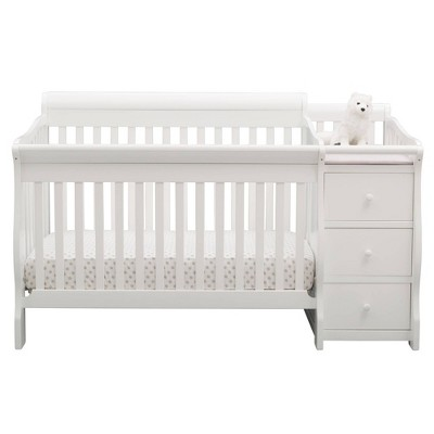 Delta Children Princeton Junction Convertible Baby Crib and Changer - Bianca White